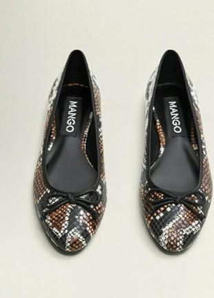 Новенькие туфли-балетки mango