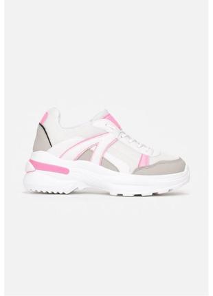 Розово-белые кроссовки / кеды / сникерсы / кросівки / кеди / снікерси