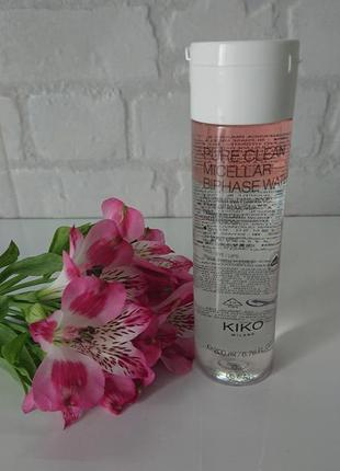Мицеллярная вода kiko milano pure clean micellar biphase water 200 ml