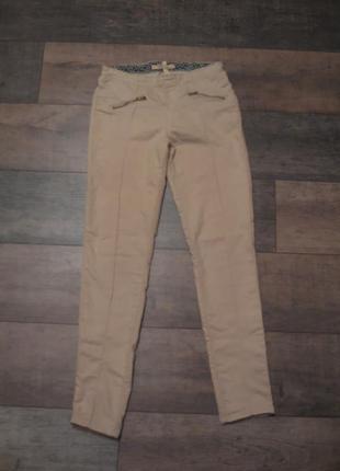 Зауженные брюки с рубчиком, цвета кофе с молоком- bershka