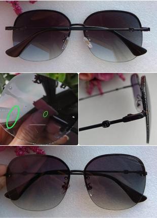 Новые крутые очки с блеском по бокам стекла (с царапинками на стекле) черные