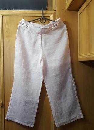 V.b (victiria beckham)  льняные брюки-капри
