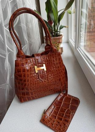 Винтажная сумка , кожа, hermes