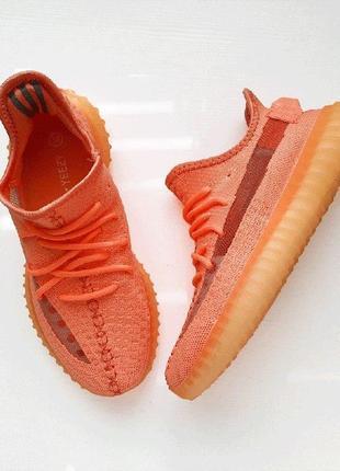 Кроссовки adidas yeezy 350 salmon neon