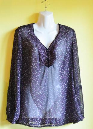 Брендовая блуза туника пляжная бохо в цветочек  /распродажа летней одежды!