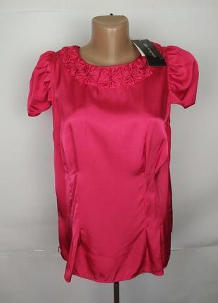 Блуза новая натуральная красивая розовая autograph uk 14/42/l