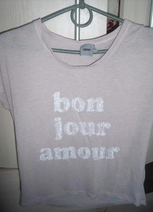 Пудровая футболка asos