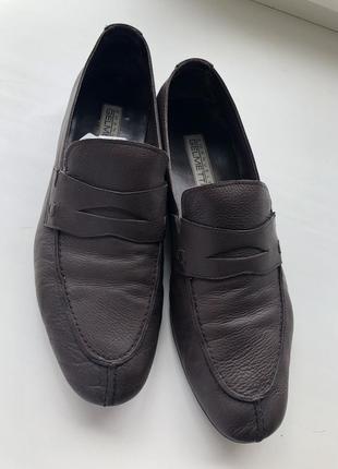 Мужские кожаные туфли/мокасины emanuele gelmetti
