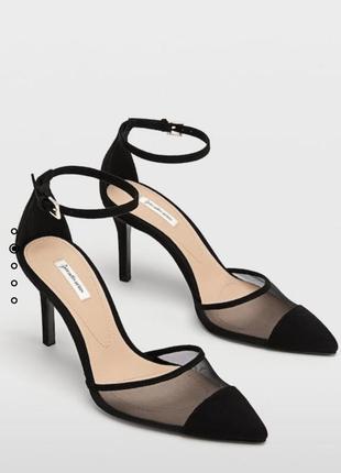 Босоножки туфли на шпильке классика доломят stradivarius оригинал