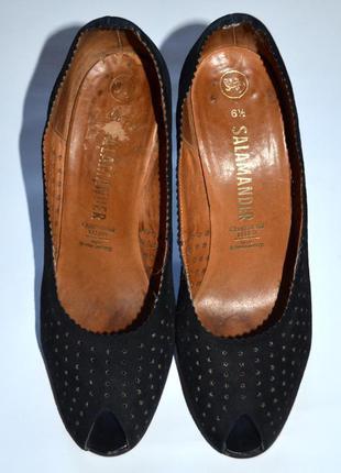 Замшевые туфли salamander