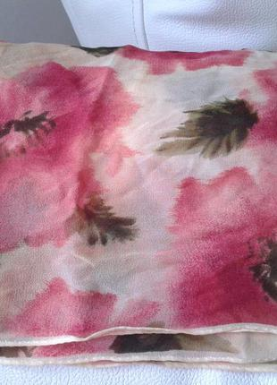 Шелковый шарф в маки от anne klein