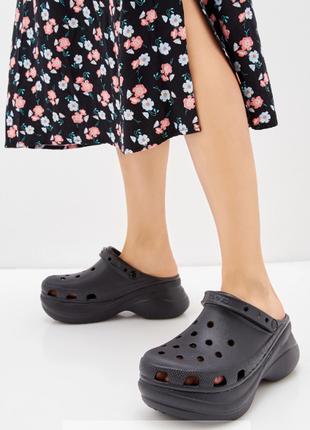 Женские черные сабо crocs women's classic bae clog