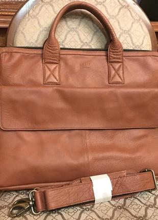 Мужская сумка! портфель! still nordic! кожа!для документов и ноутбука!