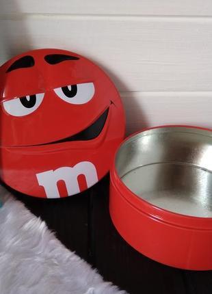Жестяная банка, коробочка для сыпучих, конфет, круп, печенья m&m's