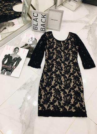 Роскошное нарядное платье из гипюра с открытой спинкой h&m