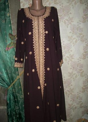 Восточное платье,рубашка,абайя,расшитое нитками и блёстками платье!