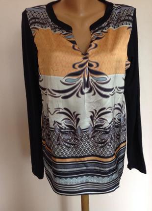 Немецкая комбинированная блузка- туника/l/ brend comma