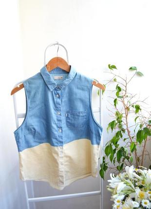 Оригинальная рубашка без рукавов от levis