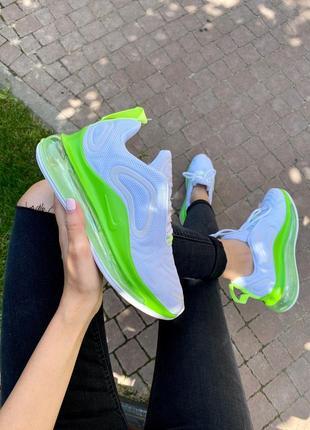 Шикарные кроссовки nike air max 720 white & green