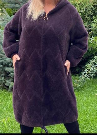 Шикарное пальто из альпаки турция