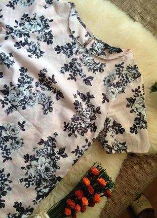 Пудренная блуза new look в цветы new look р 10