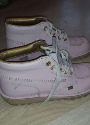Ботинки розовые женские
