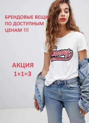 Футболка с винтажным логотипом tommy jeans