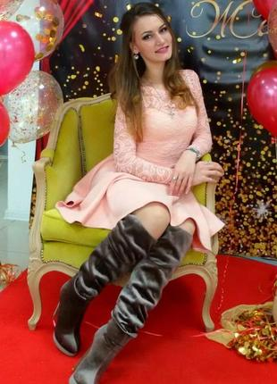 Очень нежное персиковое платье
