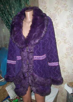 Суперкрасивое меховое пальто-куртка на осень!!!