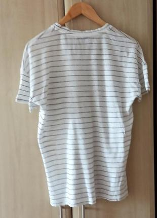 Льняная футболка mango2 фото