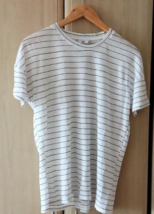 Льняная футболка mango1 фото