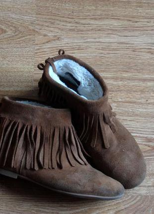 Модные замшевые ботинки с бахромой от next