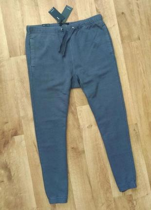 Новые с бирками мужские брендовые штаны джогеры серого цвета м,l по