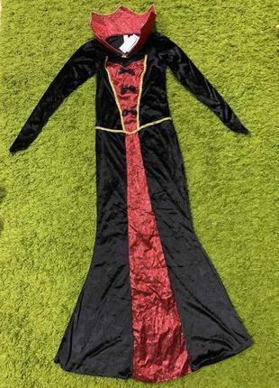 Карнавальное платье вампирши ведьма на хеллоуин размер 8-10