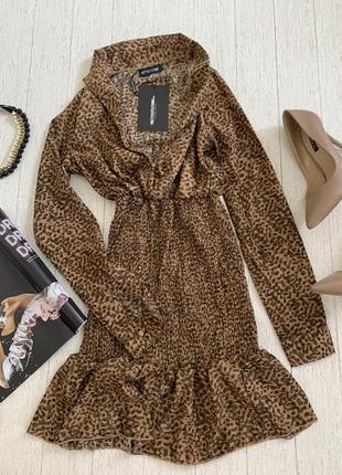 Леопардовое платье по фигуре