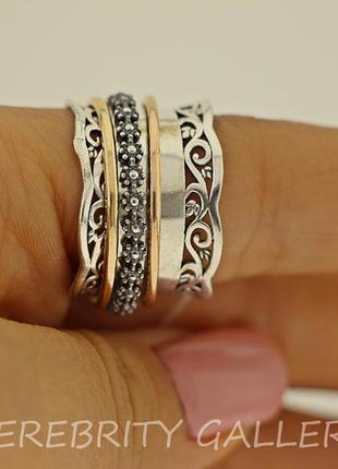 10% скидка подписчику! кольцо серебряное i 101024 gd 20 серебро 925