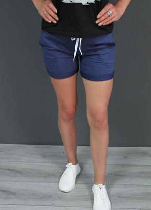 Женские шортики 😍😍😍 т.синий цвет