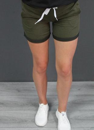 Женские шортики 😍😍😍 цвет хаки