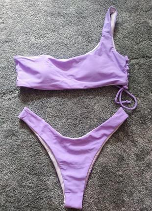 Нежный лавандовый сиреневый фиолетовый купильник бикини бразилиана