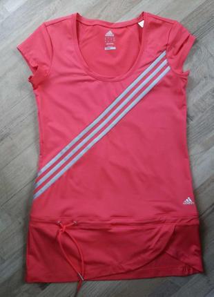 Спортивная футболка туника на девушку adidas размер uk 12.