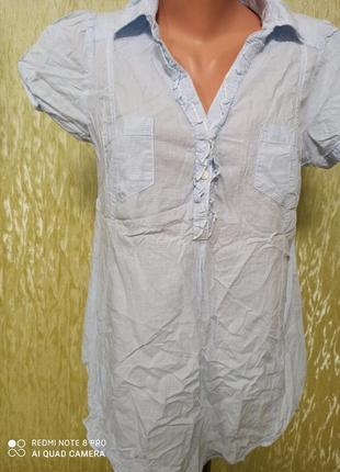 Блузка- рубашка для беременных/ в клеточку