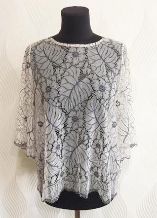 Кружевная ажурная блуза топ ganni