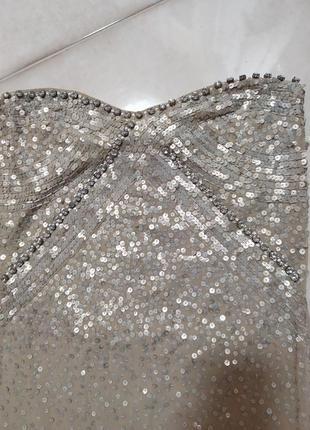 Нежное платье с пайетками silvian heach