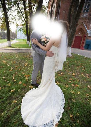 Продам шикарное свадебное платье mori lee usa