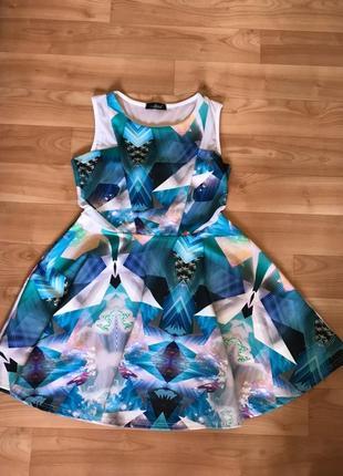 Платье летнее нарядное, яркое!