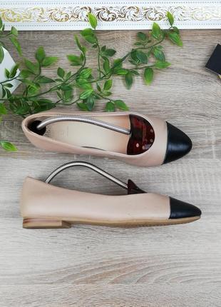 🌿37🌿европа🇪🇺 marks&spenser. кожа. безупречные фирменные туфли