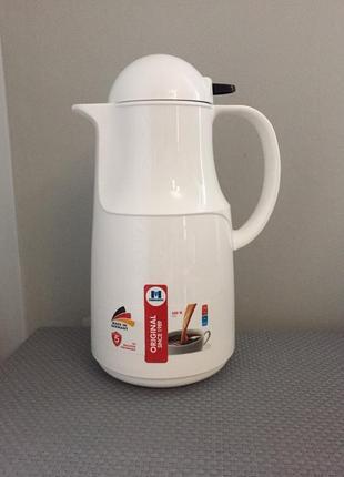 Термос-кувшин с кнопкой made in germany concord  для чая и кофе 1 литра