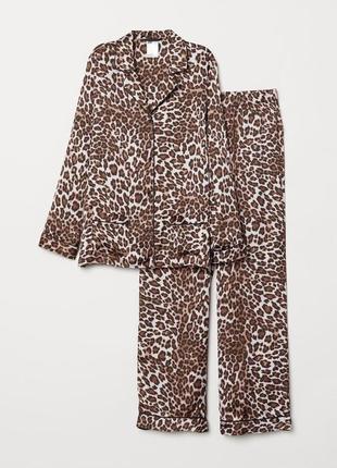 Пижама атласная рубашка и брюки