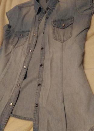 Суперстильная джинсовая рубашка
