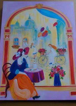 Авторская картина живопись арт деко